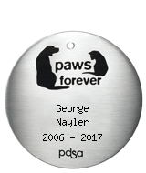 PDSA Tag for George Nayler