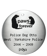 PDSA Tag for Police Dog Otto West  Yorkshire Police